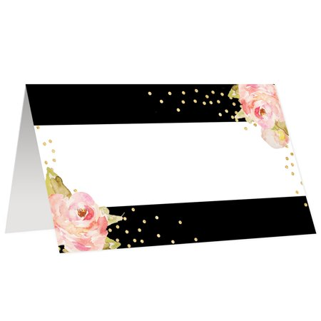 Table Seating Cards (Table Place Escort Cards Assigned Seating, Pack of 50 Scored, Easy Fold 3.5