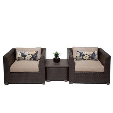 Bermuda 3 Piece Outdoor Wicker Patio Furniture Set 03a