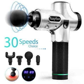 Faayfian 4 Heads 30 Speeds Muscle Massager Gun