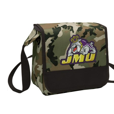 CAMO James Madison University Lunch Bag Stylish OFFICIAL JMU CAMO Lunchbox Cooler for School or Office - Men or (Official Duke Store)