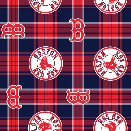 MLB Boston Red Sox Fleece Fabric