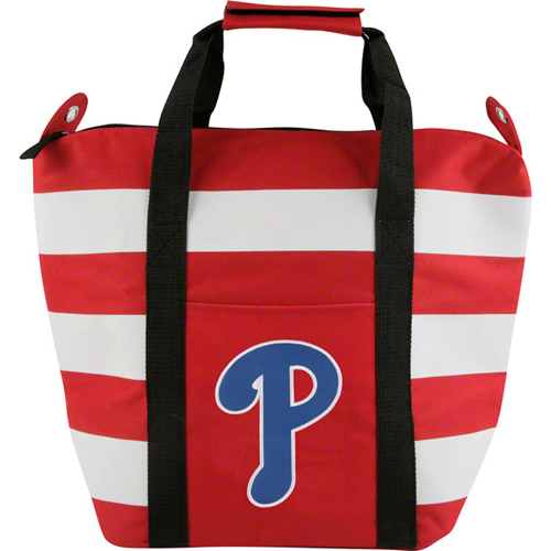 Concept 1 CNO-MLPH5246 Philadelphia Phillies Mlb Freeze Striped Insulated Tote Bag