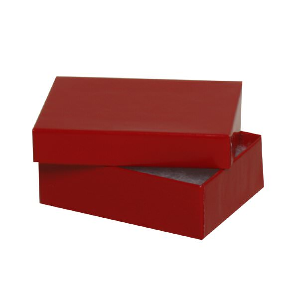 """JAM Paper Two Piece Box, 3 1/8"""" x 2 1/8"""" x 1"""", Red, Sold individually"""