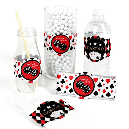 Las Vegas - DIY Party Supplies - Casino Party DIY Wrapper Favors & Decorations - Set of 15 - Las Vegas Decorations Ideas