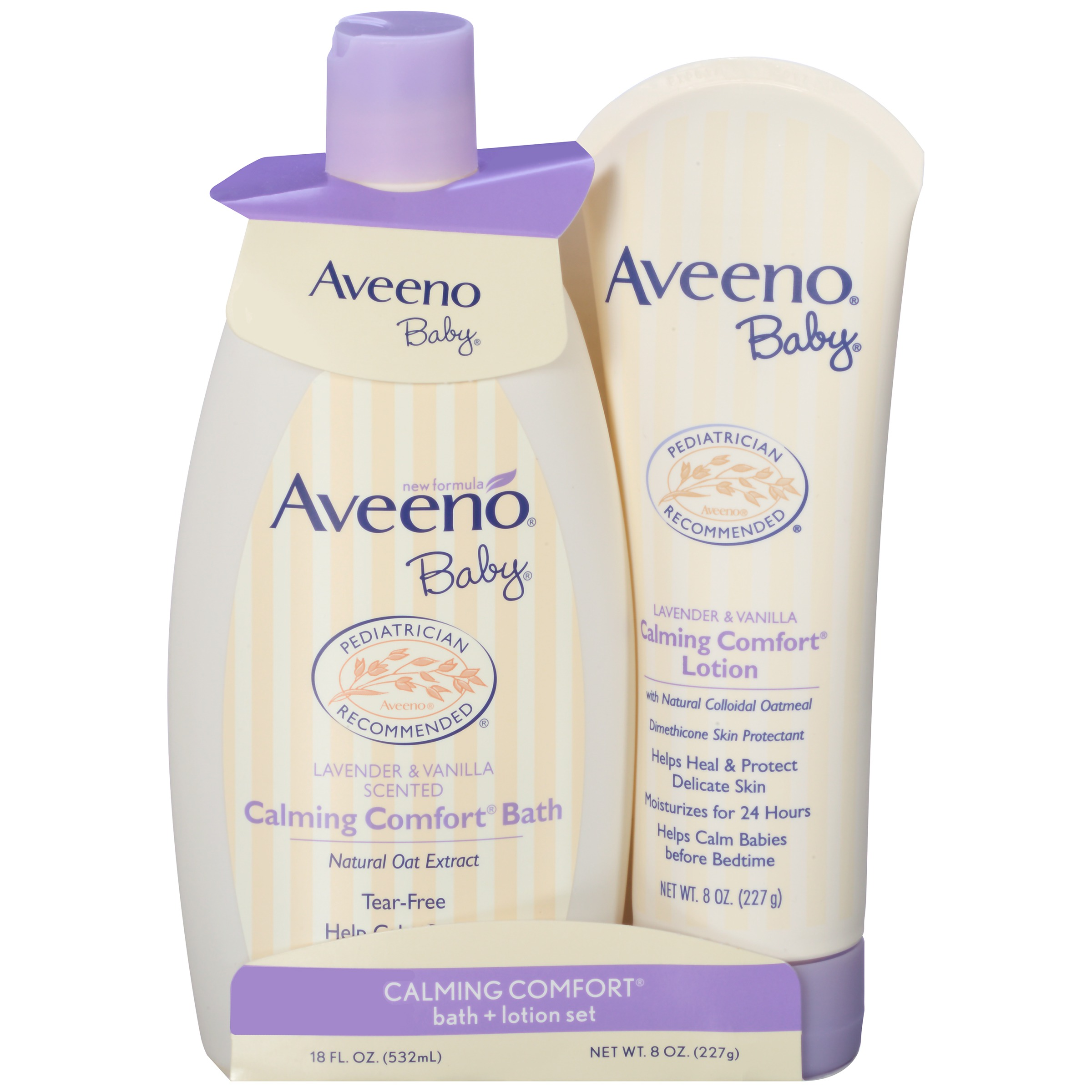Aveeno Baby Calming Comfort Bath + Lotion Set, Baby Skin Care Products, 2 Items by Aveno