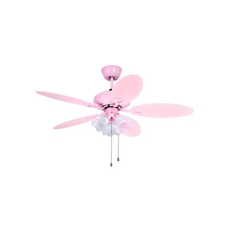 Phenomenal 3 Lights Lovely Pink Ceiling Fan For Child Room Walmart Com Home Interior And Landscaping Mentranervesignezvosmurscom