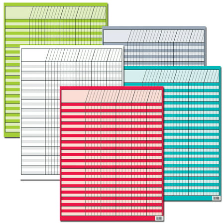 BRIGHT COLORS INCENTIVE 5-CHART VARIETY PACK - Kids Incentive Chart