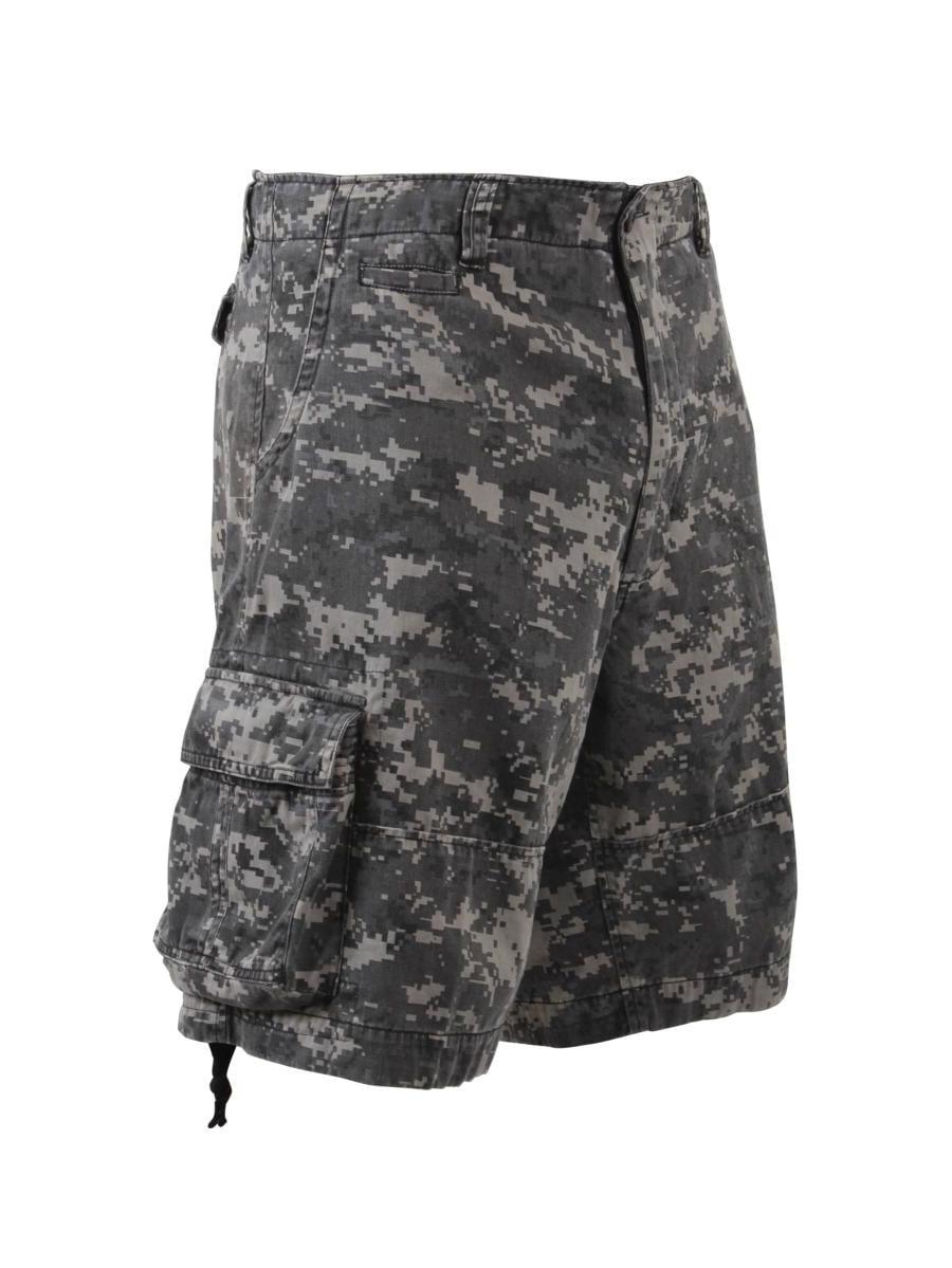 Vintage Infantry Utility Shorts, Subdued Urban Digital Camo