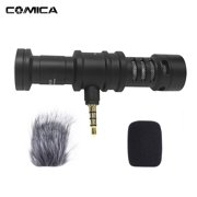 COMICA CVM-VS08 Professional Cardioid Directional Condenser Video Microphone Full Metal Super -Interference for iPod Touch for and Other Brand Smartphones