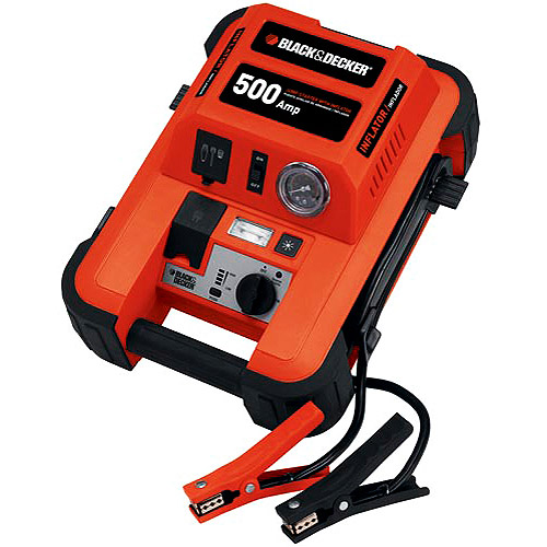 Black & Decker 500-Amp Jumpstart with Inflator