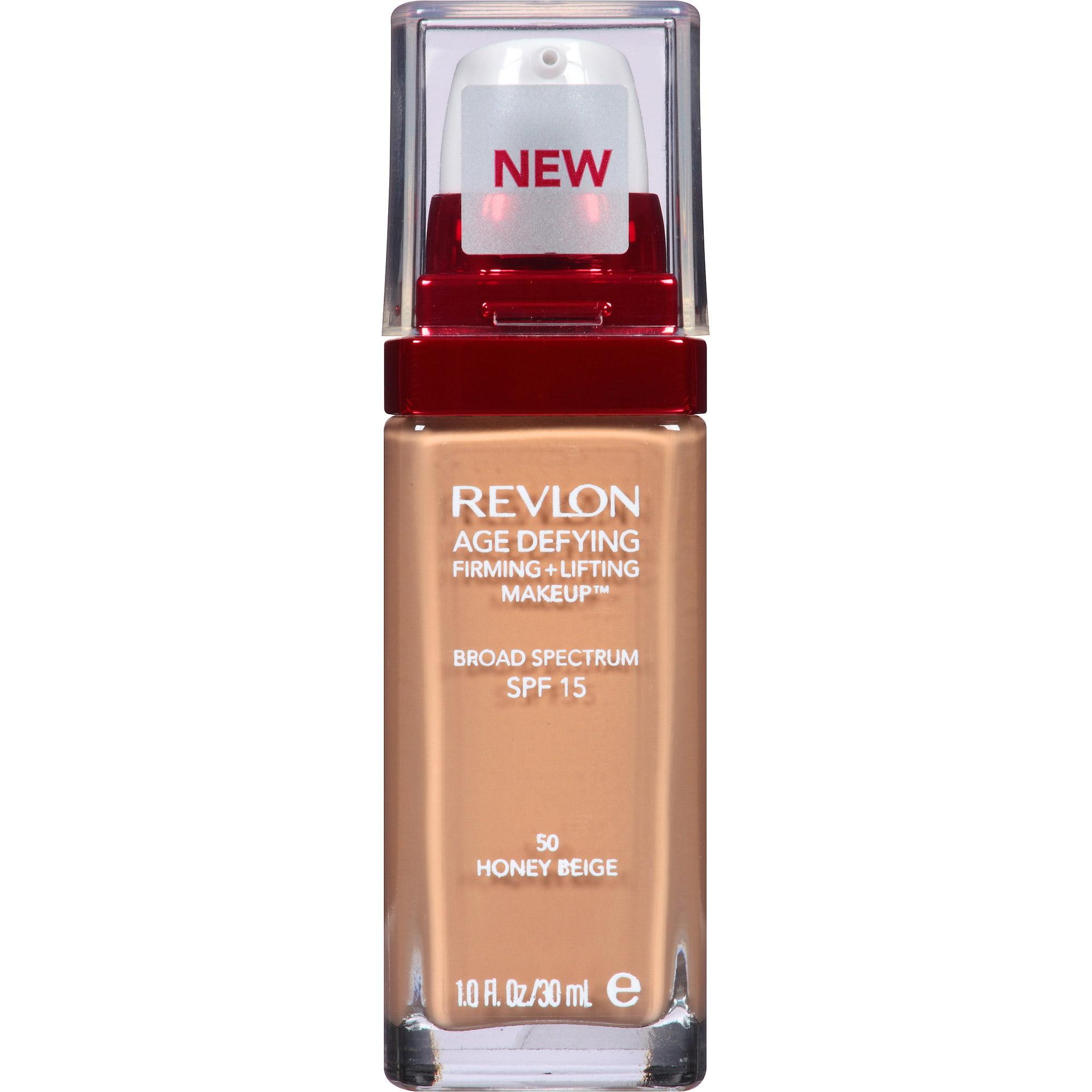 Revlon Age Defying Firming + Lifting Makeup, 50 Honey Beige, 1 fl oz