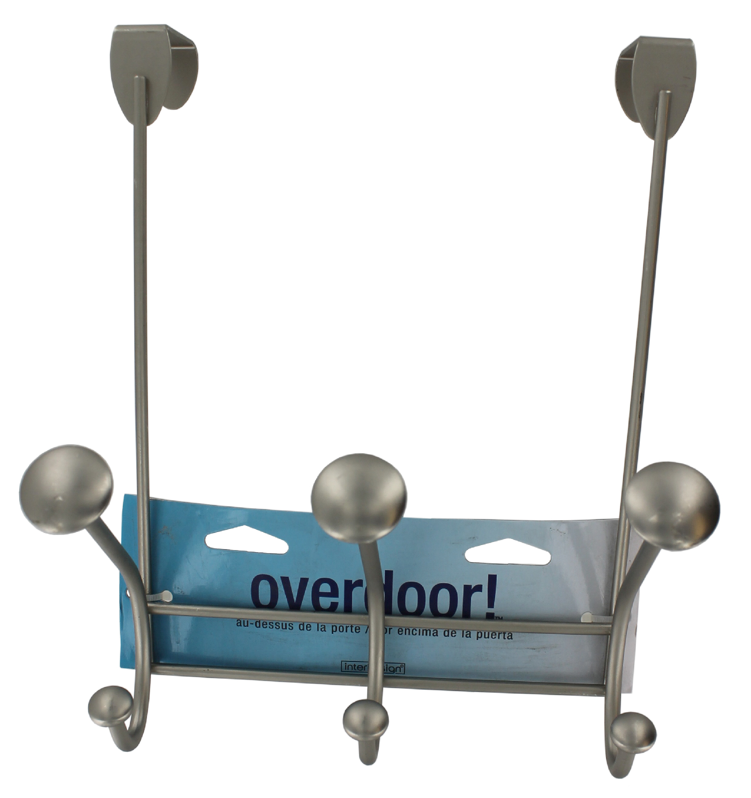 Interdesign 00392 Satin Nickel Over The Door Rack