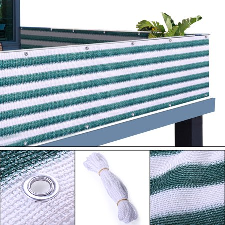 Jaxpety 3'x20' Privacy Screen Wind Sun Shield Shade Outdoor For Pool, Patio, Deck, Balcony, Railing, Fence ()