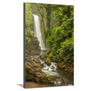 Central America, Costa Rica. Templo Waterfall in Rain Forest Stretched Canvas Print Wall Art By Jaynes Gallery