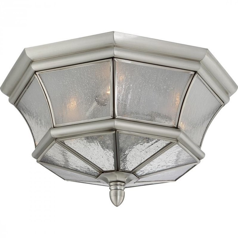 Quoizel Newbury Outdoor Flush Mount in Pewter - image 1 of 1