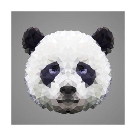Panda Low Poly Portrait Print Wall Art By kakmyc](Low Poly Portrait)