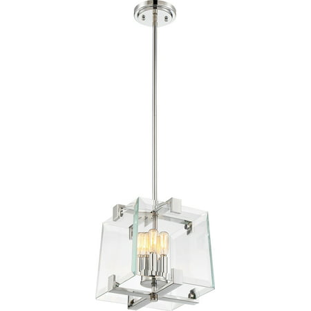 Pendants 1 Light With Polished Nickel Finish Steel Medium Base 11 inch 40 Watts ()