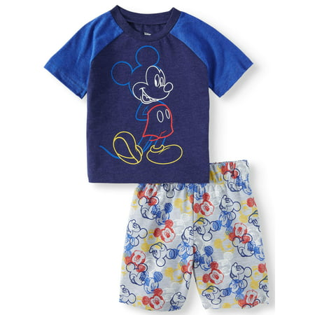 735c732fab37 Mickey Mouse - Mickey Mouse T-Shirt & Shorts, 2pc Outfit Set (Toddler Boys)  - Walmart.com