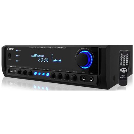 Pyle Audio PYRPT390AUb Pyle PT390AU 300 Watt Digital Stereo Receiver