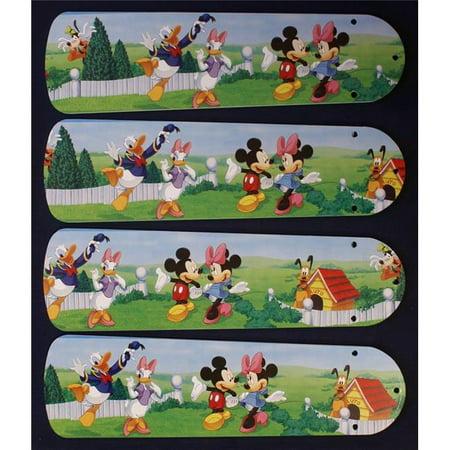 42 in. New Disney Micky & Minnie Mouse & Friends Ceiling Fan Blades Ceiling Fan Leaf Blades