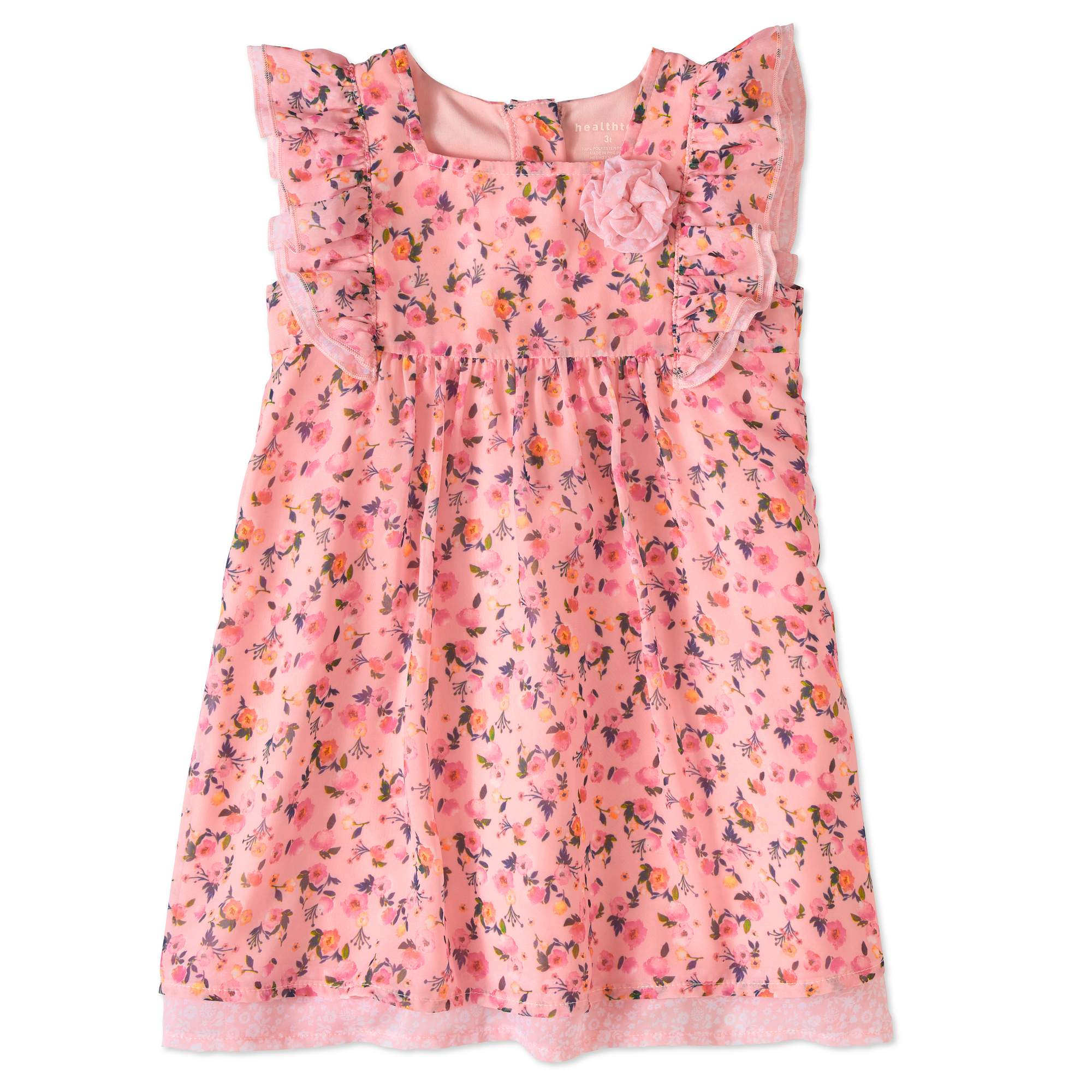 Healthtex Toddler Girls' Flutter Sleeve Baby Doll Dress