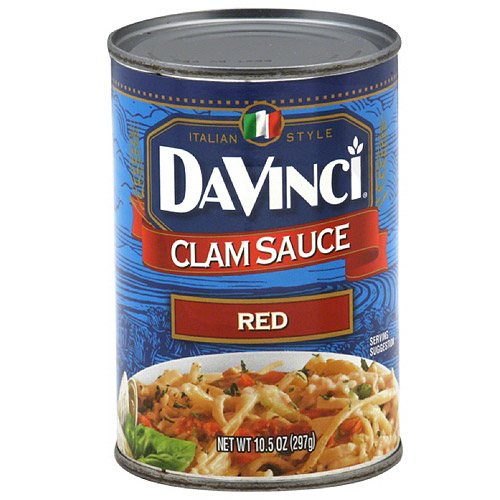 DaVinci Red Clam Sauce, 10.5 oz, (Pack of 12)
