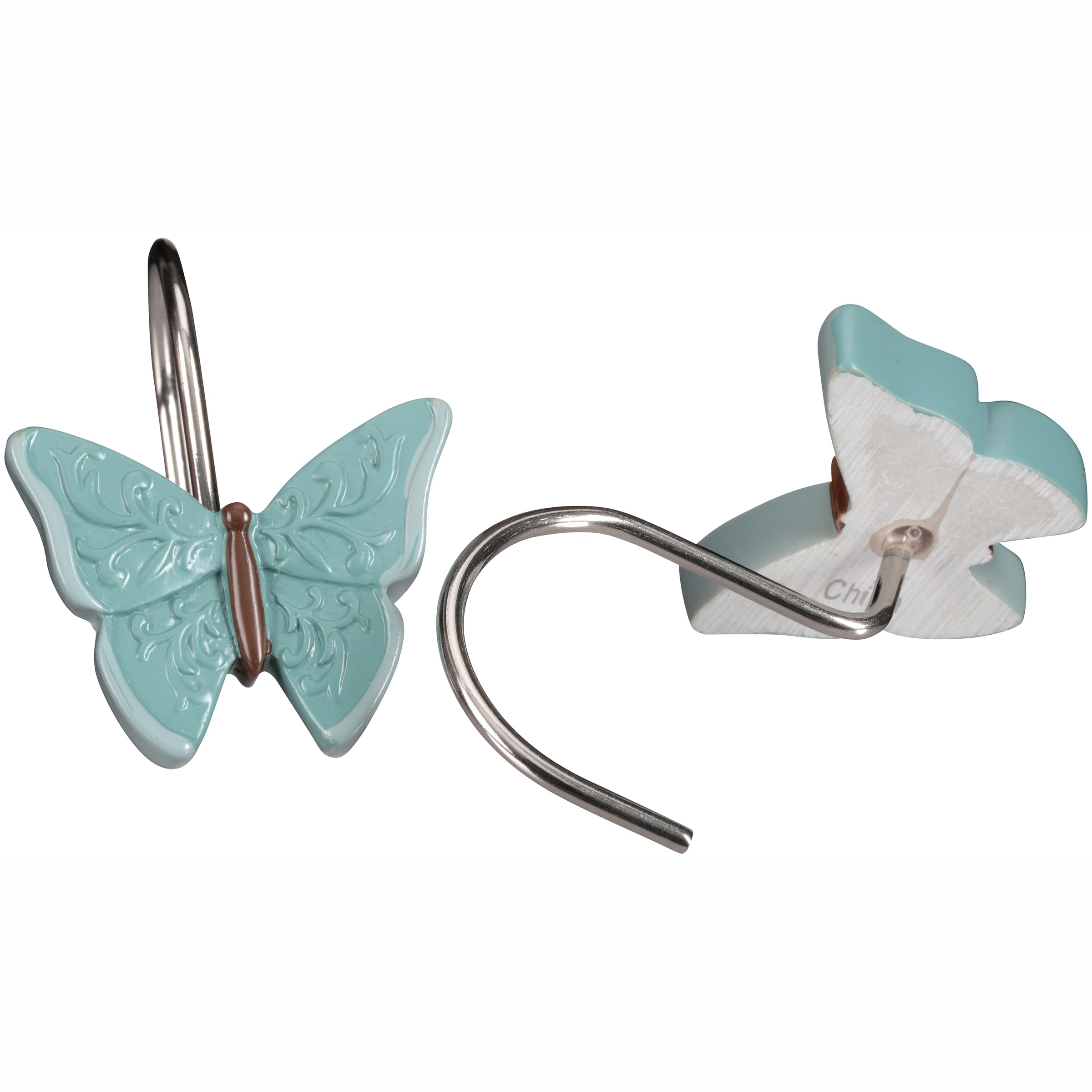 Mainstays™ Butterfly Blessings/Cream Shower Hooks 12 ct. Box