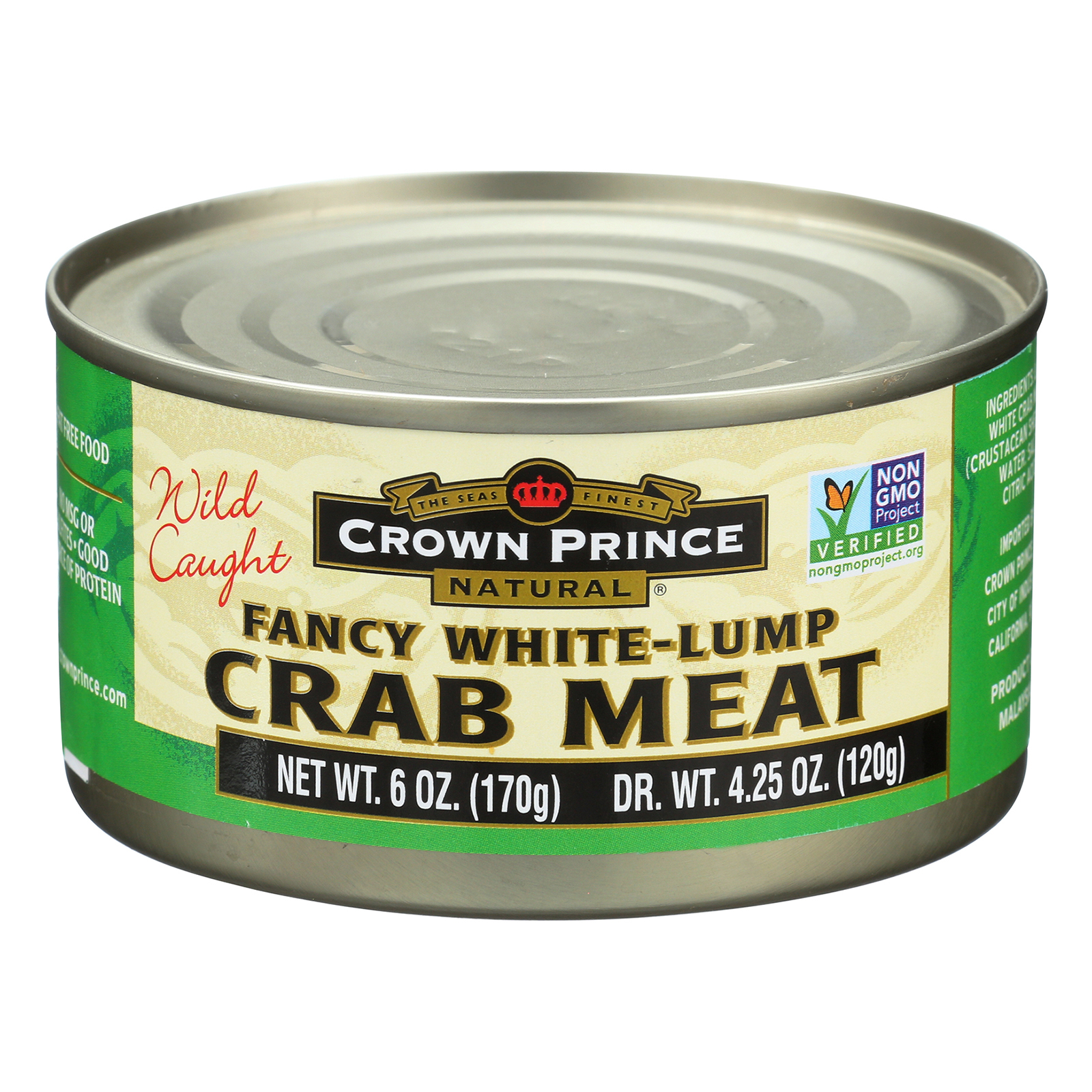 Crown Prince Natural Canned Fancy White-Lump Crab Meat, 6 Oz by Crown Prince