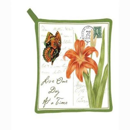 Image of Alice's Cottage AC21436 Orange Butterfly Pot Holder