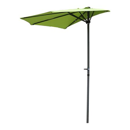 International Caravan YF-1147-2.7M-GG 9 ft. Half Round Wall Hugger Umbrella, Grass Green - image 1 of 1