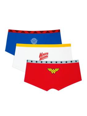 Fruit of the Loom Women's Wonder Woman Boyshort Panties, 3-Pack