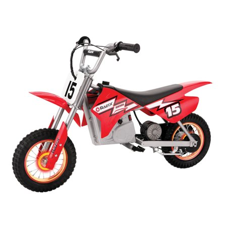 Splatter Motorcycle - Razor MX400 Dirt Rocket 24V Electric Toy Motocross Motorcycle Dirt Bike, Red