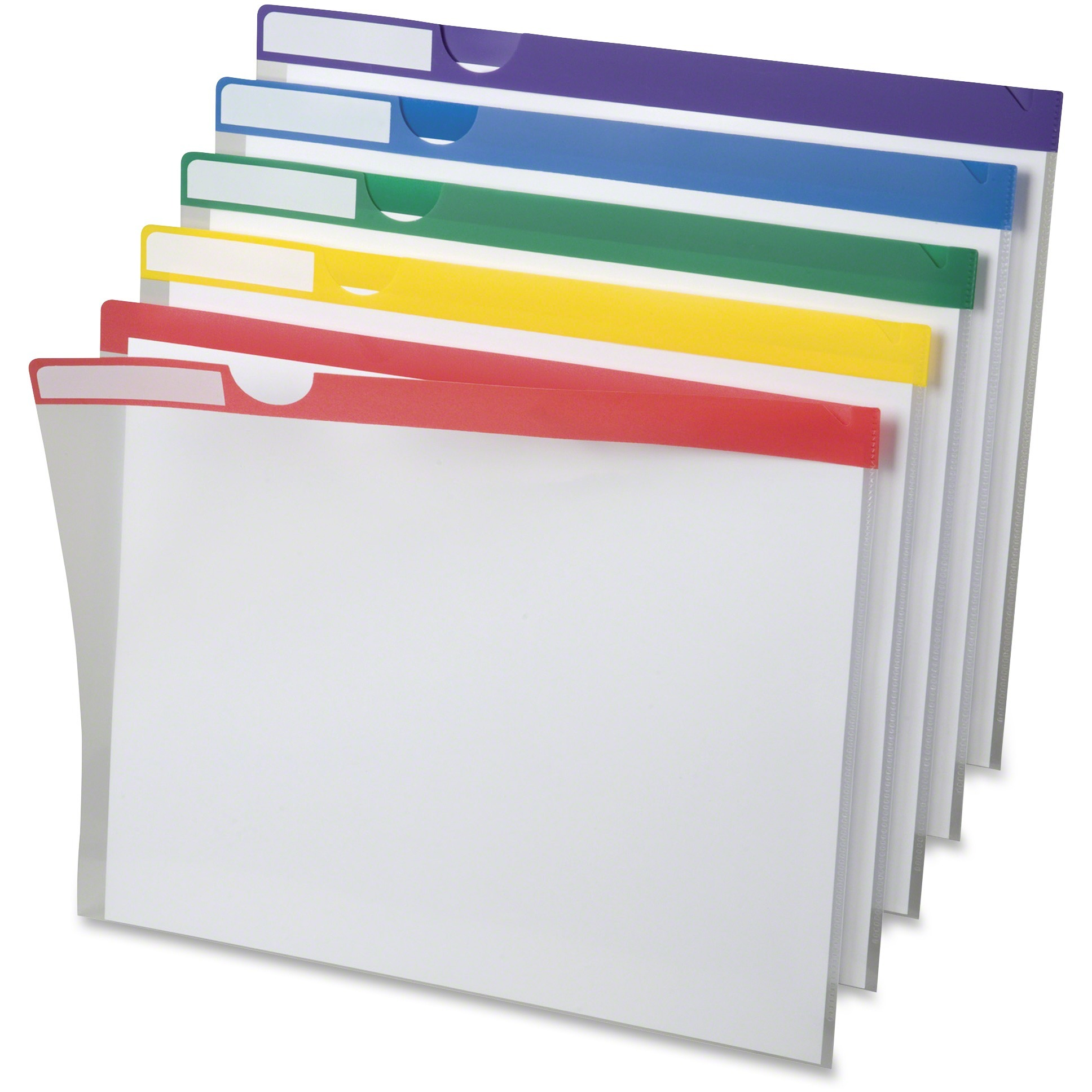 Pendaflex, PFX50981, Clear Poly Index Folders, 10 / Pack, Assorted