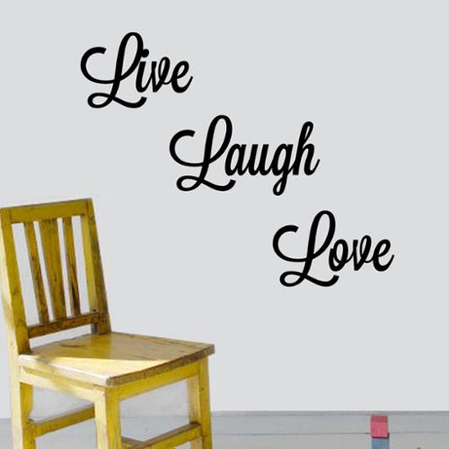 Decal the Walls 'Live, Laugh, Love' Vinyl Wall Art Decal
