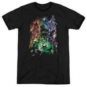 Green Lantern DC Comics The New Guardians Adult Ringer T-Shirt Tee