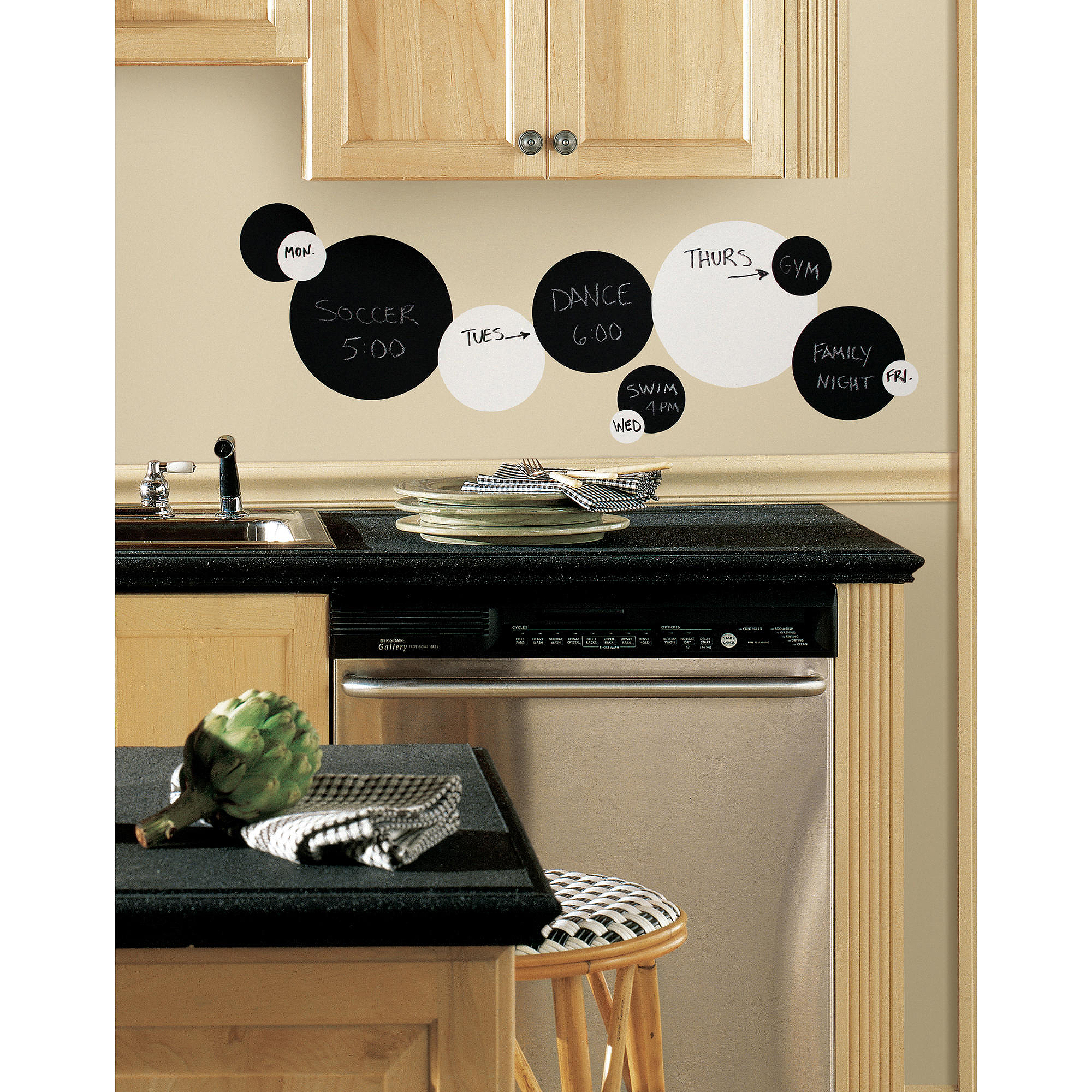 black and white chalkboard dots peel and stick wall decals  - black and white chalkboard dots peel and stick wall decals  walmartcom
