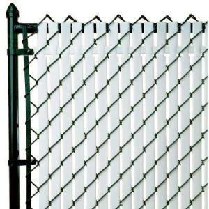 PVT- Top Locking Privacy Vertical Inserts 4' high-White, Chain Link Privacy Slats By Patrcian
