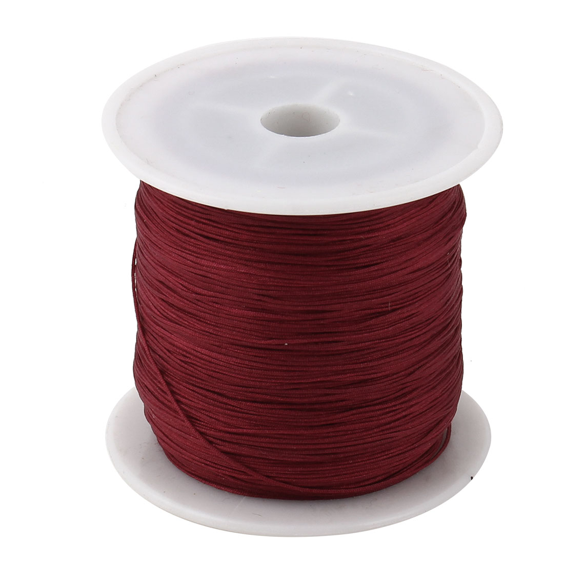 Household Nylon DIY Art Craft Chinese Knot Cord String Rope Burgundy 153 Yards