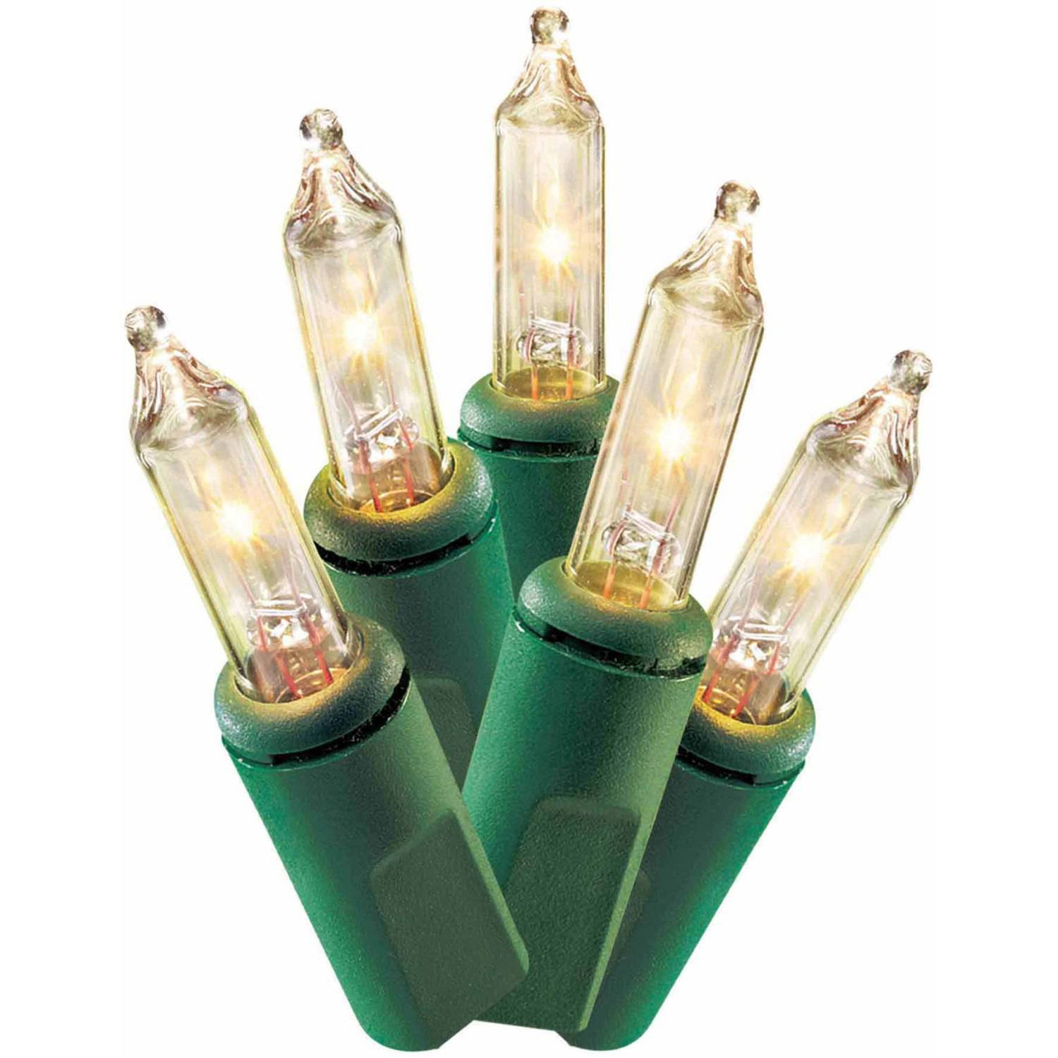 Holiday Time Christmas Lights Mini Clear Bulbs Value Pack, 150-Count, 2-Pack