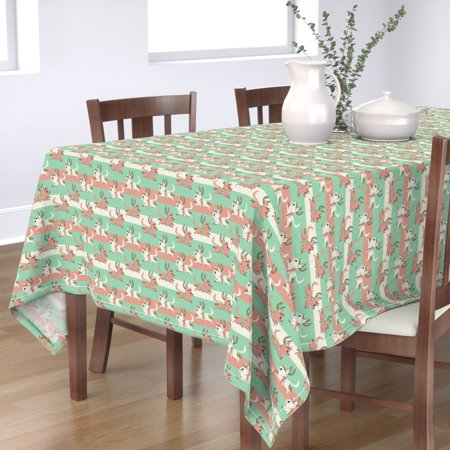 Image of Tablecloth Reindeer Cat Reindeer Christmas Cat Merry Christmas Cotton Sateen