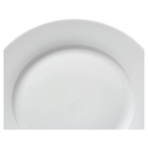 TenStrawberryStreet Royal White 12'' Buffet Plate (Set of 6)