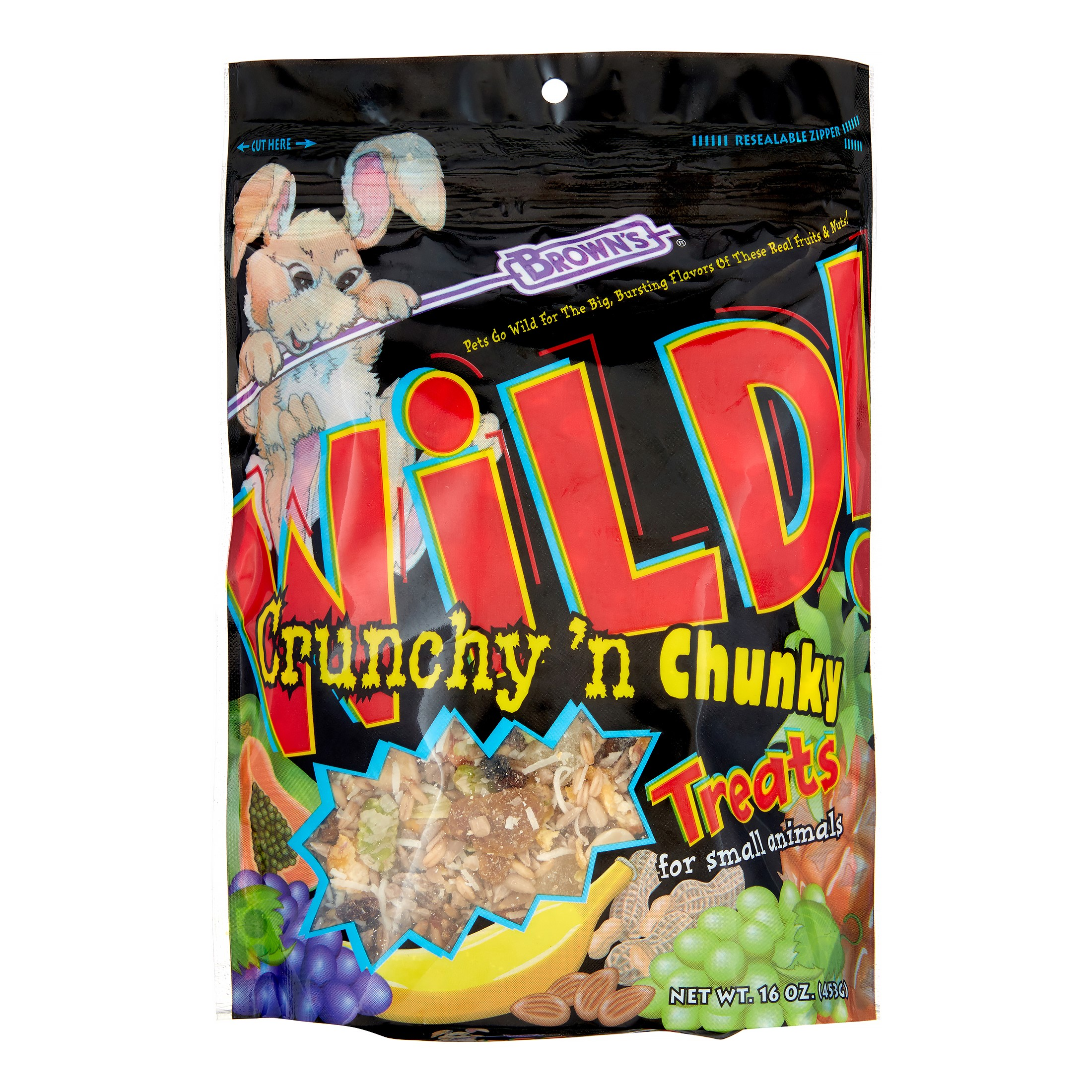 Brown's Extreme! Wild! Crunchy and Chunky Small Animal Treat, 16 Oz