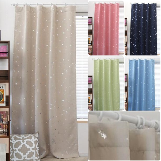 5 Colors Kids Boy Girls Window Curtains Blackout Room Thermal Insulated for Bedroom Gift