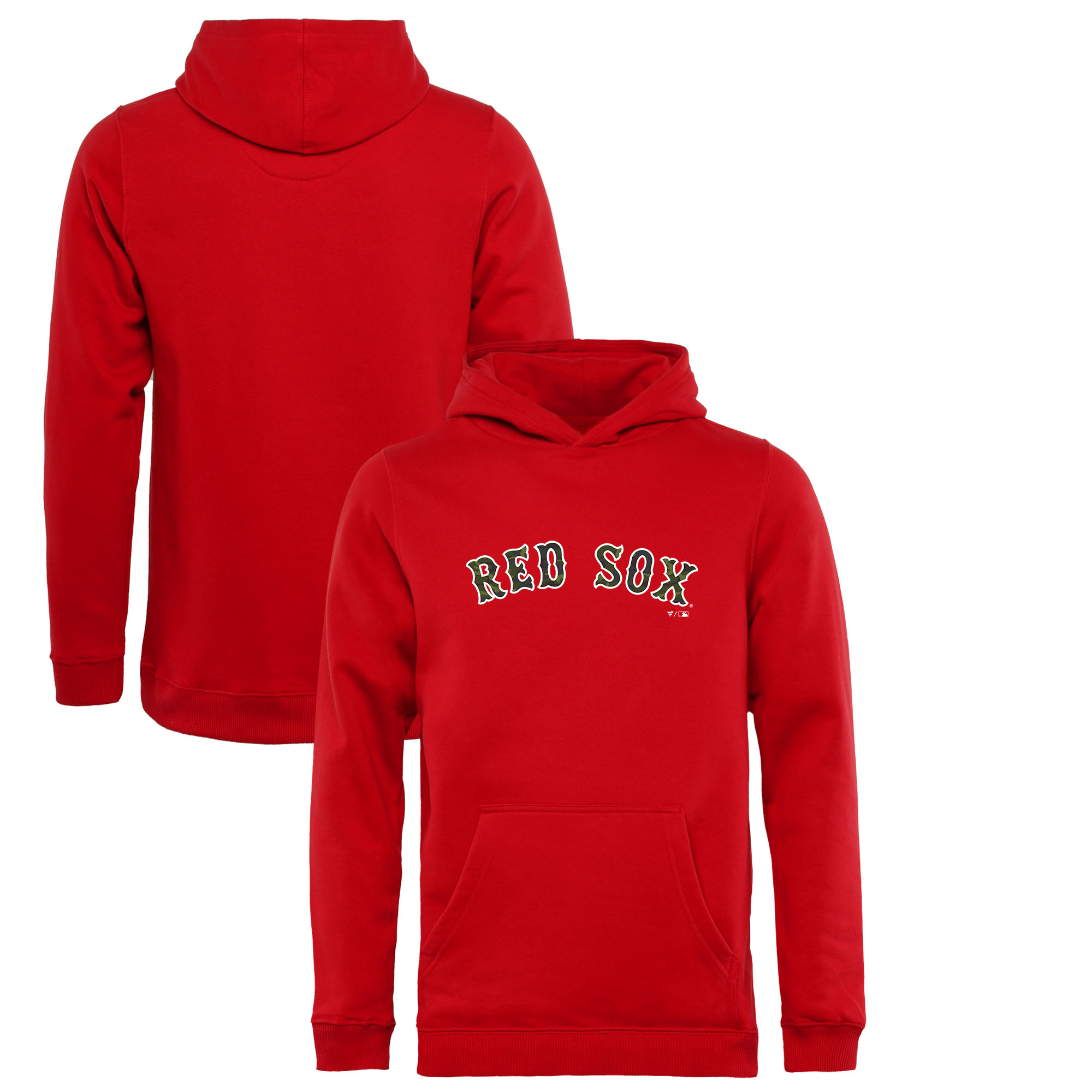 timeless design 60363 3448d Boston Red Sox Fanatics Branded Youth Armed Forces Wordmark Pullover Hoodie  - Red
