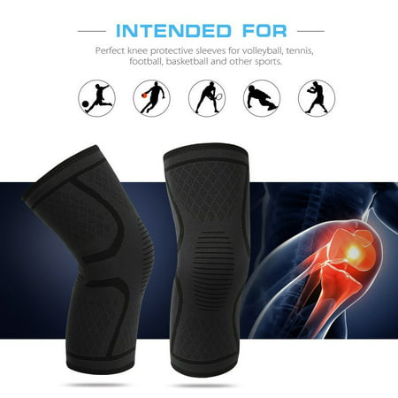 23f7ed6551 1 Pair Knee Compression Sleeves Warm Keeping Joint Injury Recovery Aid  Arthritis Pain Relief Brace Sports Support Pads for Running, Hiking,  Basketball, ...
