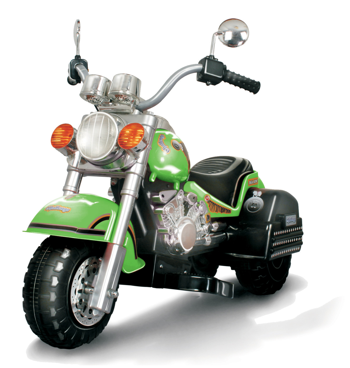 Harley Style Chopper Style Limited Edition Motorcycle Green by