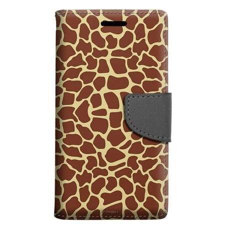 Alcatel Pop 4 Wallet Case - Giraffe Print Case