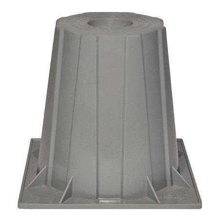 Heat Pump Riser, 6 In., Gray