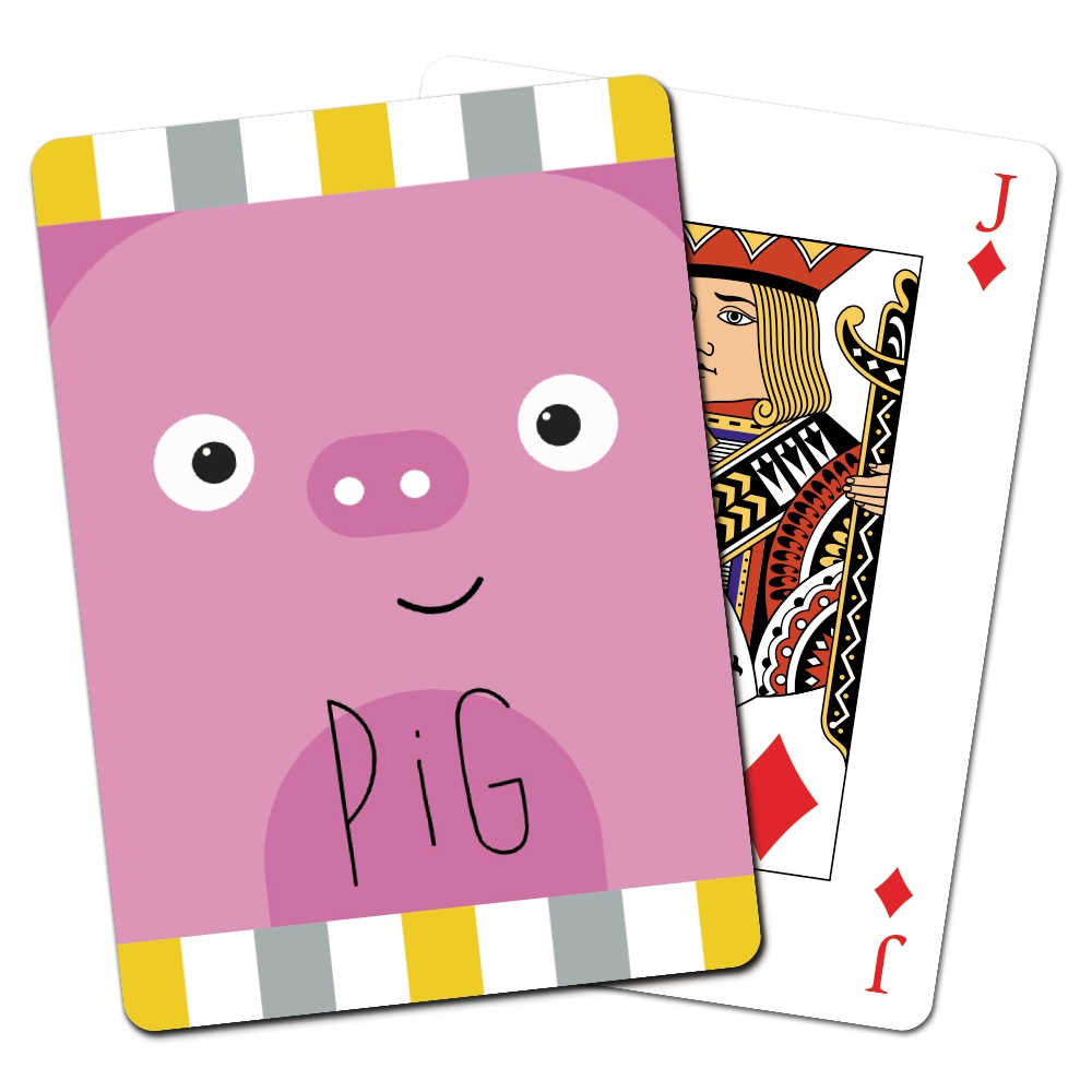 Tree-Free Greetings Pig Animoji Playing Cards -CD15336