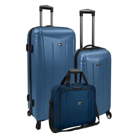 U S Traveler Us Hytop 3 Piece Hybrid Luggage Set